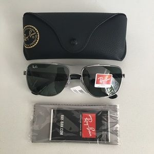 NWT Ray-Ban RB3483-004/71 Silver Sunglasses
